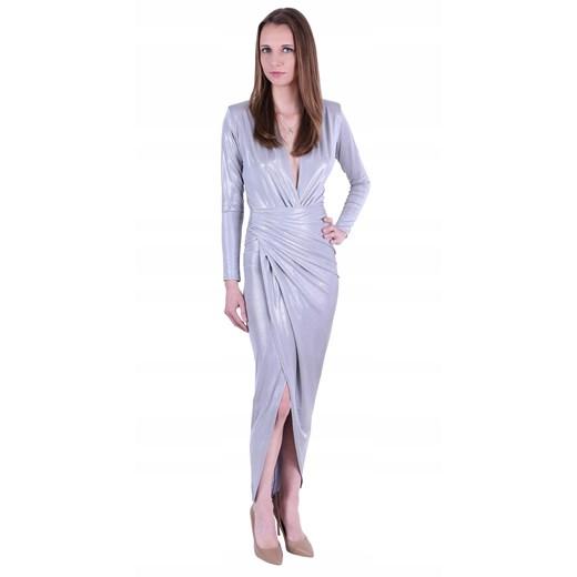 Sukienka z długimi rękawami maxi Odzież Damska DM VDRU