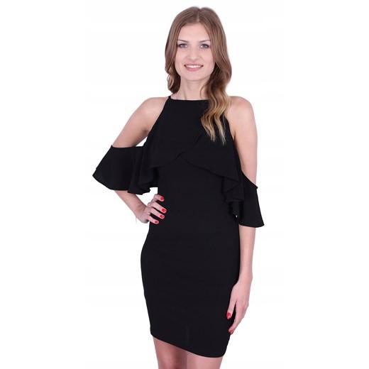 Sukienka czarna Odzież Damska PB czarny KJDJ
