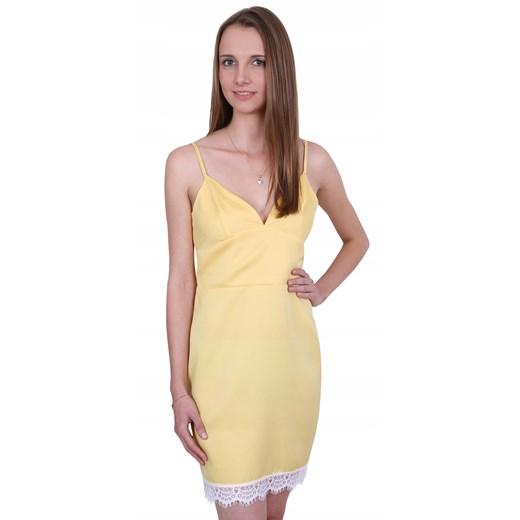 Sukienka mini Odzież Damska AN żółty VMSH