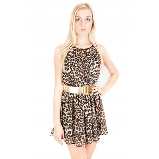 Sukienka mini dla puszystych letnia z okrągłym dekoltem Odzież Damska AW CSXI