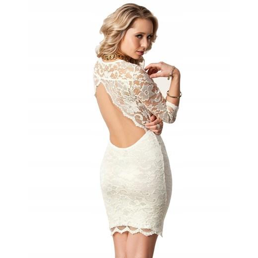 Sukienka mini Odzież Damska WL beżowy YFBM