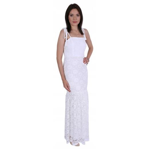 Sukienka biała Odzież Damska AZ biały CMWG