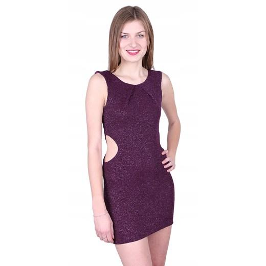Sukienka Odzież Damska HB fioletowy PILU