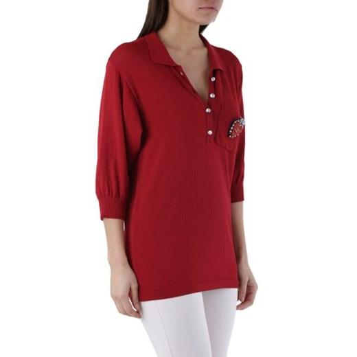Sweter damski Olivia Hops na wiosnę z wiskozy Odzież Damska KT czerwony DFLE