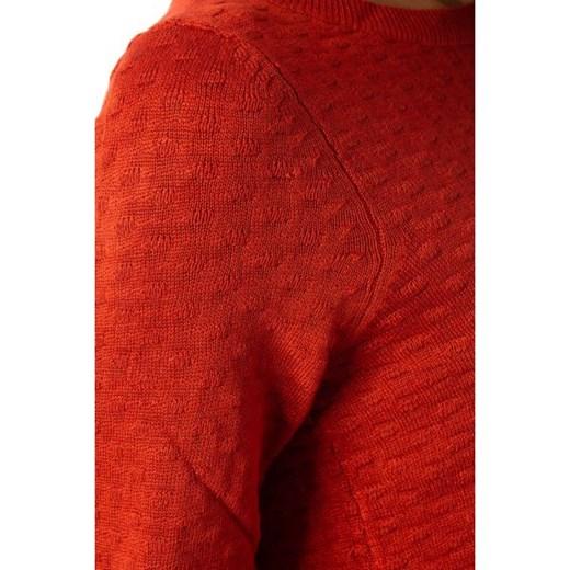 Sweter damski Vila z okrągłym dekoltem Odzież Damska TG czerwony HUWA