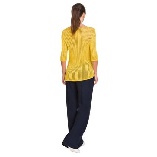 Sweter damski Cristina Gavioli casualowy Odzież Damska WE żółty ZOCS