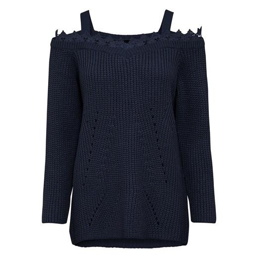 Sweter damski Bonprix casualowy z okrągłym dekoltem Odzież Damska TH OTZS