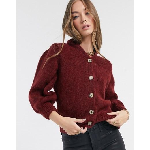Sweter damski czerwony Vero Moda Odzież Damska PS czerwony QOVG
