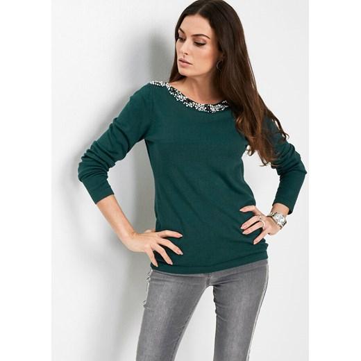 Sweter damski Bonprix z okrągłym dekoltem Odzież Damska NN OQOP