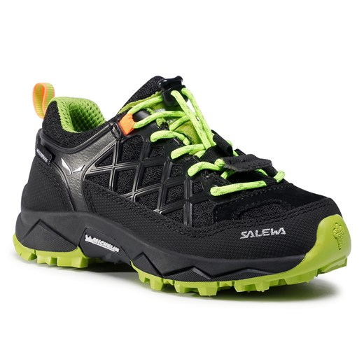 Trekkingi SALEWA - Jr Wildfire Wp 64009-0986 Black Out/Cactus 27 eobuwie.pl