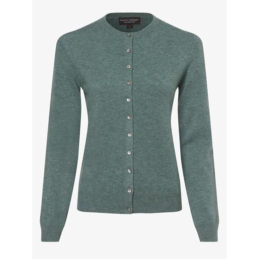 Sweter damski Franco Callegari z okrągłym dekoltem Odzież Damska QH zielony MDRI