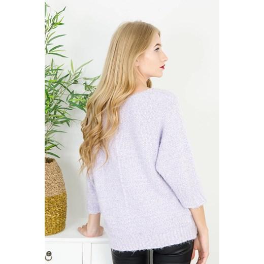 Fioletowy sweter damski Olika Odzież Damska OW fioletowy URGY