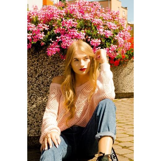 Sweter damski Olika z kapturem Odzież Damska MY różowy GDZW