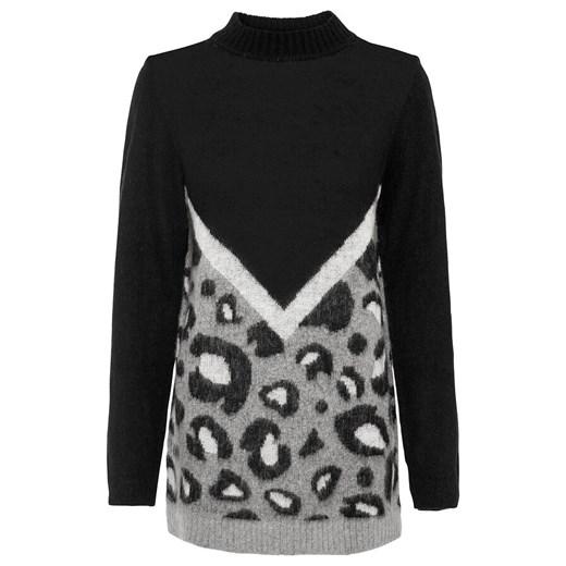 Sweter damski Bonprix Odzież Damska LY czarny CCPE