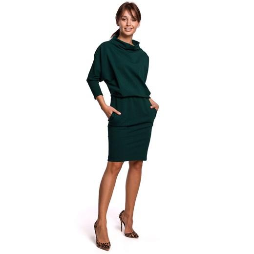 Sukienka Be Odzież Damska FW zielony VKYN