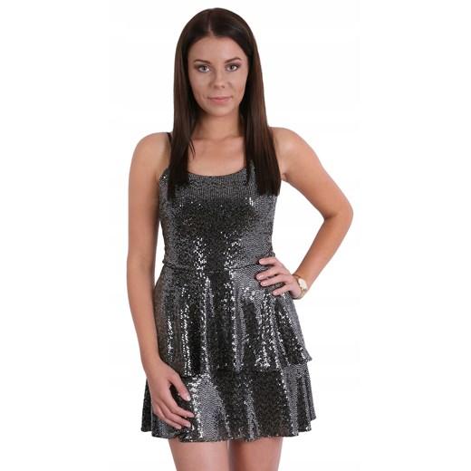 Sukienka mini na ramiączkach Odzież Damska PV czarny VFEW