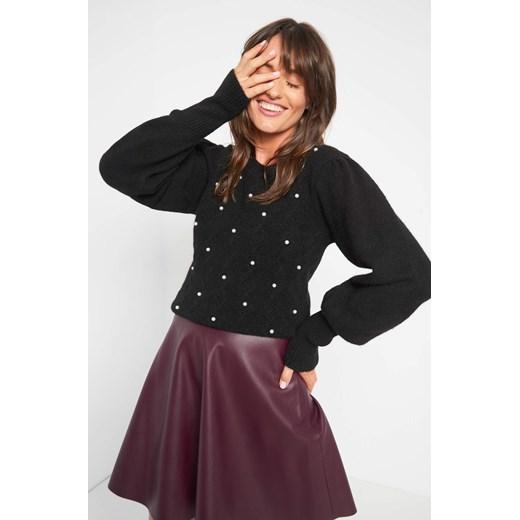 Sweter damski ORSAY dzianinowy zimowy z okrągłym dekoltem Odzież Damska RS IEIM
