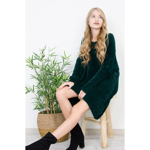 Sweter damski Olika Odzież Damska OZ zielony ZLJU