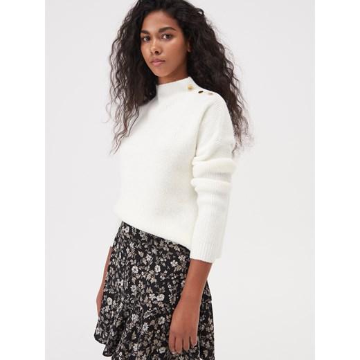 Sweter damski Sinsay casual biały Odzież Damska KE biały HMZH
