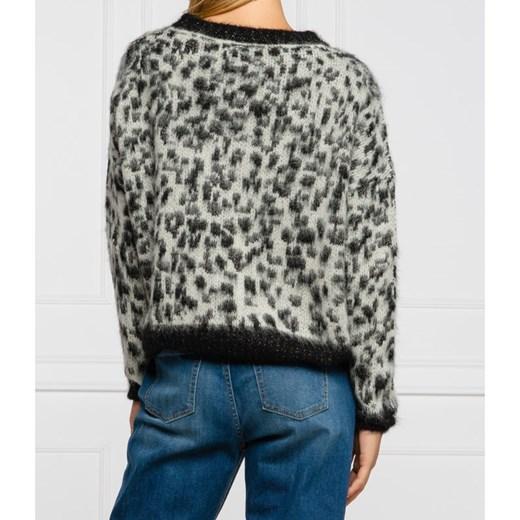 Sweter damski Liu Jo wełniany z okrągłym dekoltem Odzież Damska XX szary LGJP
