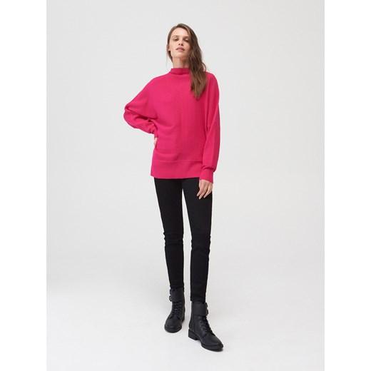Mohito - Sweter z prążkowanej dzianiny Różowy Odzież Damska UQ różowy EZJC