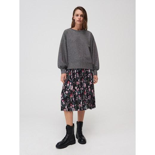 Sweter damski Mohito z okrągłym dekoltem Odzież Damska XW szary EMAU