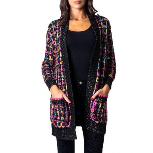 Sweter damski Desigual z dekoltem w literę v Odzież Damska NH wielokolorowy LISA