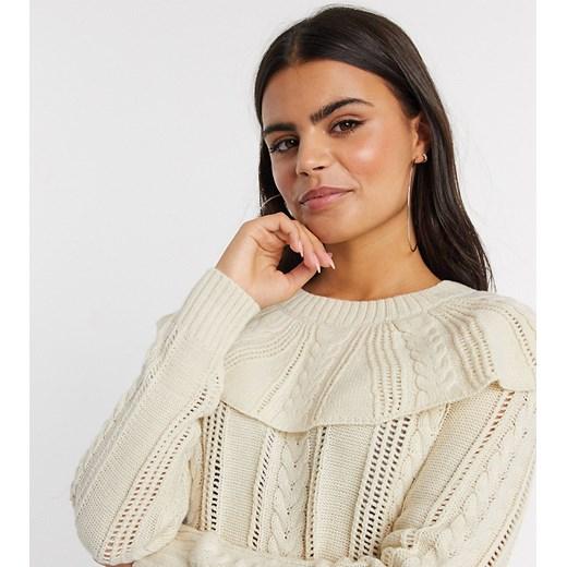 Sweter damski Vero Moda z okrągłym dekoltem Odzież Damska JK beżowy RFGM
