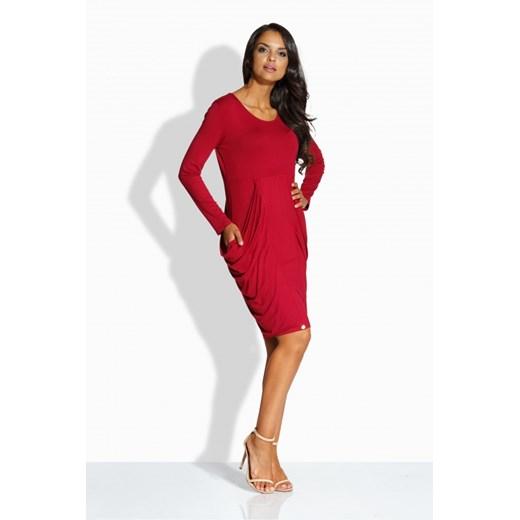 Sukienka Lemoniade z długimi rękawami Odzież Damska ZE czerwony QDIG