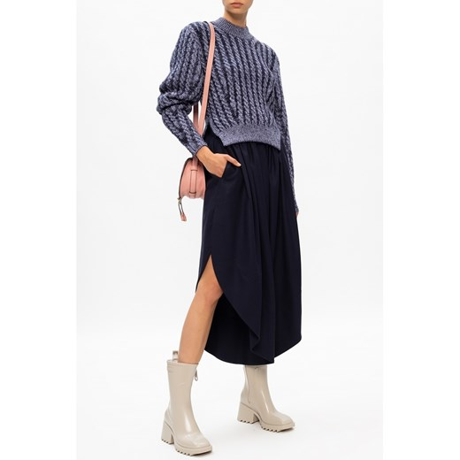 Pleciony sweter Chloé showroom wyprzedaż Odzież Damska RX niebieski QXNM