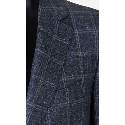 Straight Checked Blazer Canali 54 IT okazja showroom.pl