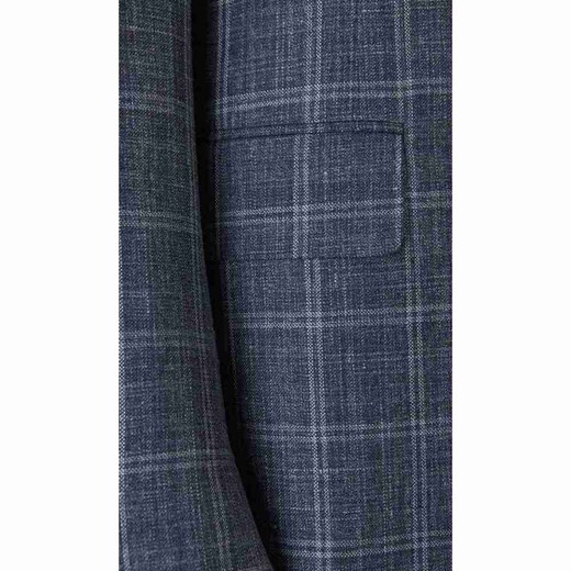 Straight Checked Blazer Canali 54 IT showroom.pl promocja