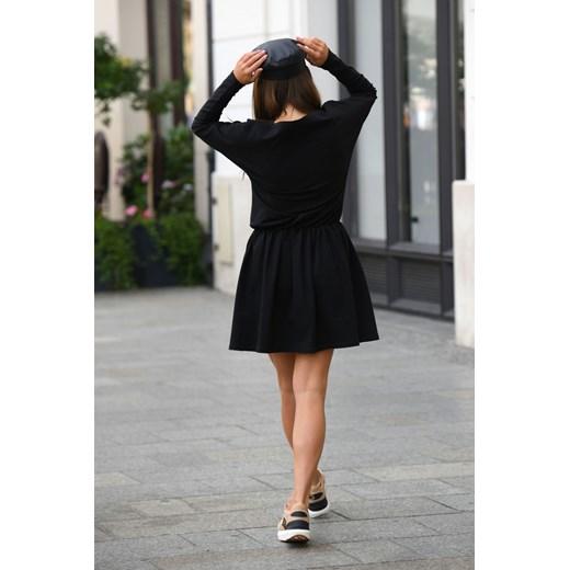 Sukienka Lemoniade z długim rękawem Odzież Damska KR czarny BXFF