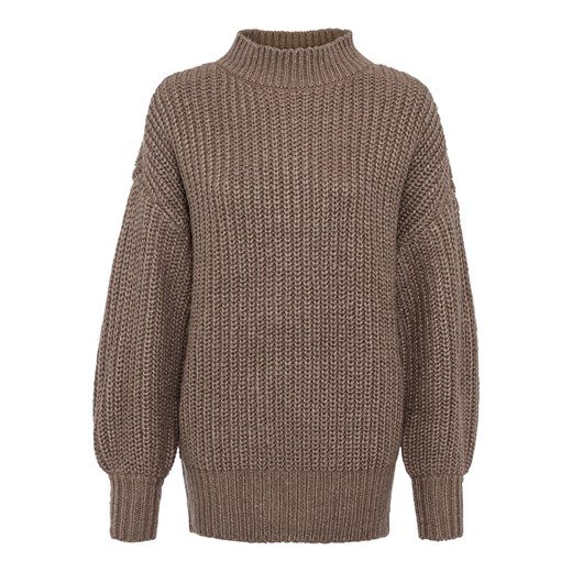 Sweter damski Bonprix na zimę Odzież Damska DZ brązowy MRGI