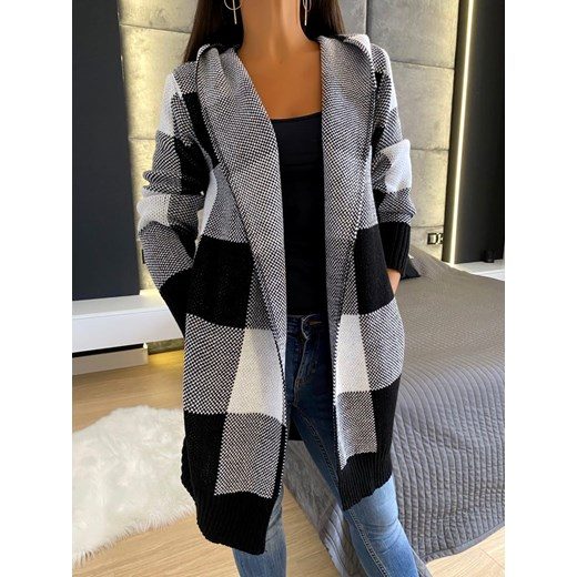 Sweter damski wielokolorowy Modnakiecka z dekoltem w serek Odzież Damska CX wielokolorowy TTPR