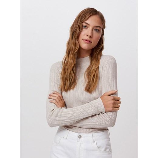 Sweter damski Cropp Odzież Damska VB beżowy IFHA