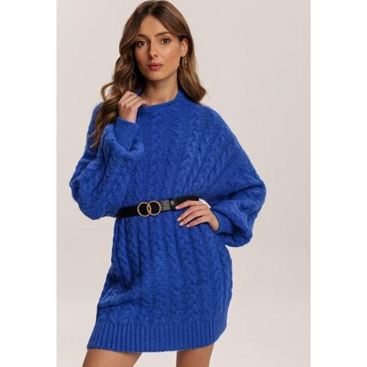 Sweter damski Renee z okrągłym dekoltem Odzież Damska XG granatowy MFYZ