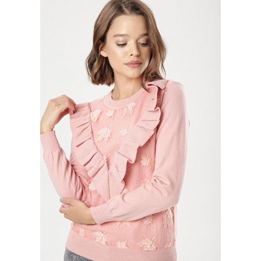 Sweter damski Born2be różowy Odzież Damska RZ różowy XWUT