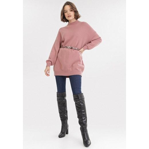 Sweter damski Born2be casualowy Odzież Damska GS różowy ANDX