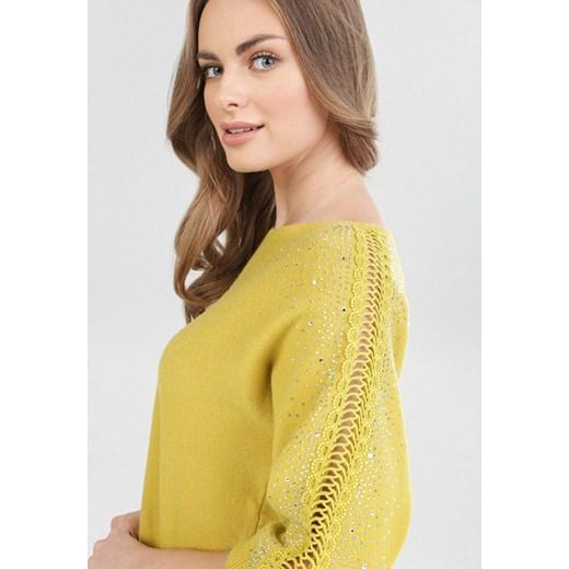 Sweter damski Born2be casual Odzież Damska CK żółty VBLF