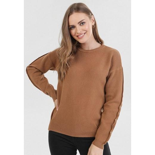 Sweter damski brązowy Born2be Odzież Damska VH brązowy IYCN