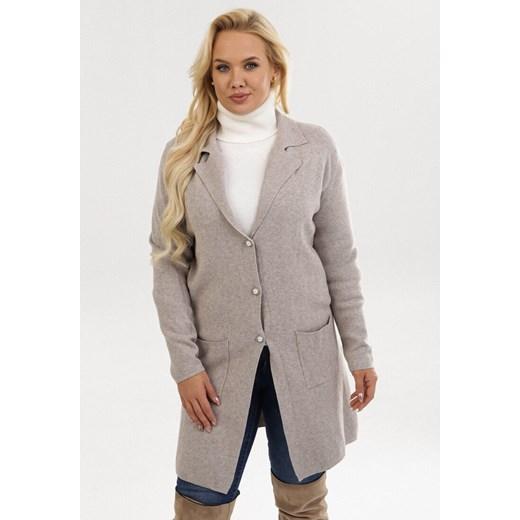 Sweter damski Born2be z dekoltem v Odzież Damska EN zielony KPAU