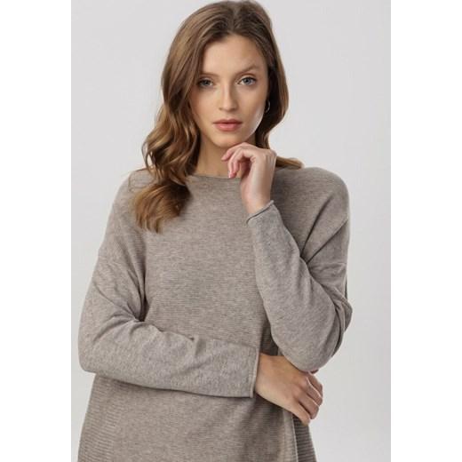 Sweter damski Born2be Odzież Damska QU zielony CPHH