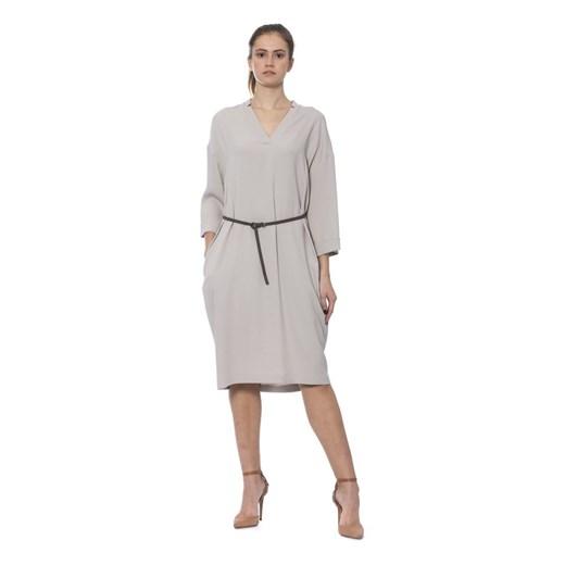 Dress Peserico okazyjna cena showroom Odzież Damska XW szary GYZX