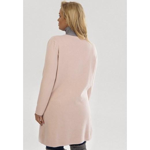 Sweter damski Born2be w serek Odzież Damska UN różowy LQEX