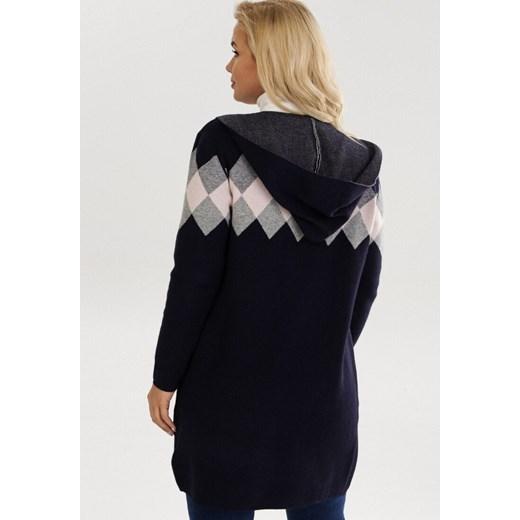 Sweter damski Born2be casual Odzież Damska TM granatowy JVZJ