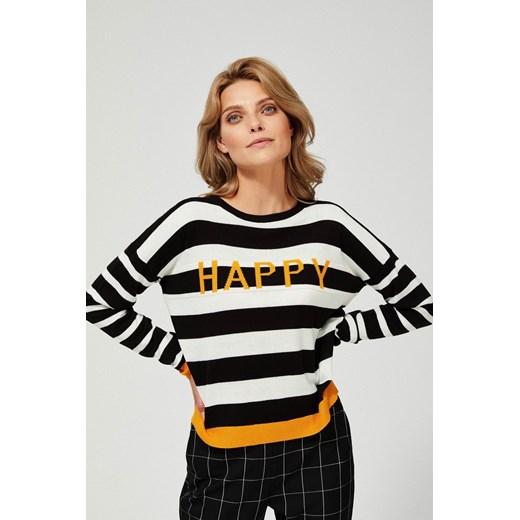 Sweter damski z okrągłym dekoltem Odzież Damska EB VWSJ