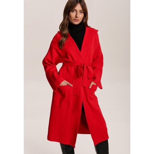 Czerwony sweter damski Renee Odzież Damska HY czerwony URQV