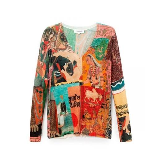 Sweter damski Desigual z dekoltem v Odzież Damska RN SHOU