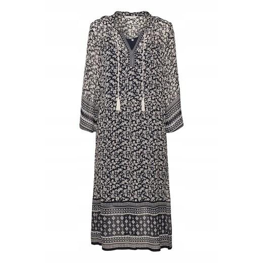 Sukienka szyfonowa z długim rękawem Odzież Damska EC MLKA